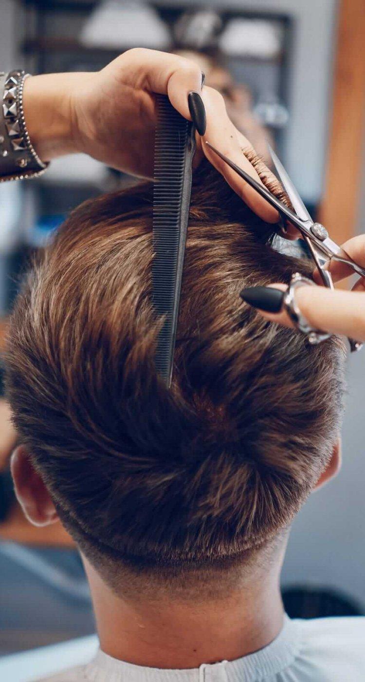 גבר מסתפר - בית הספר לעיצוב שיער
